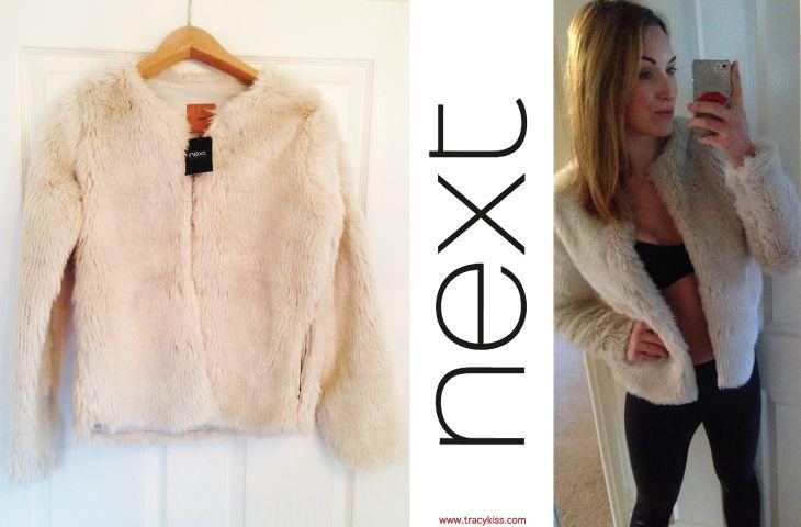 Next Cream Faux Fur Jacket