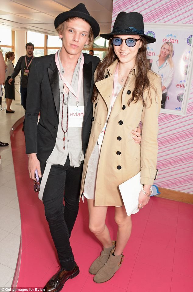 Looking good: Jamie Campbell Bower and Matilda Lowther attend the evian Live Young suite o...