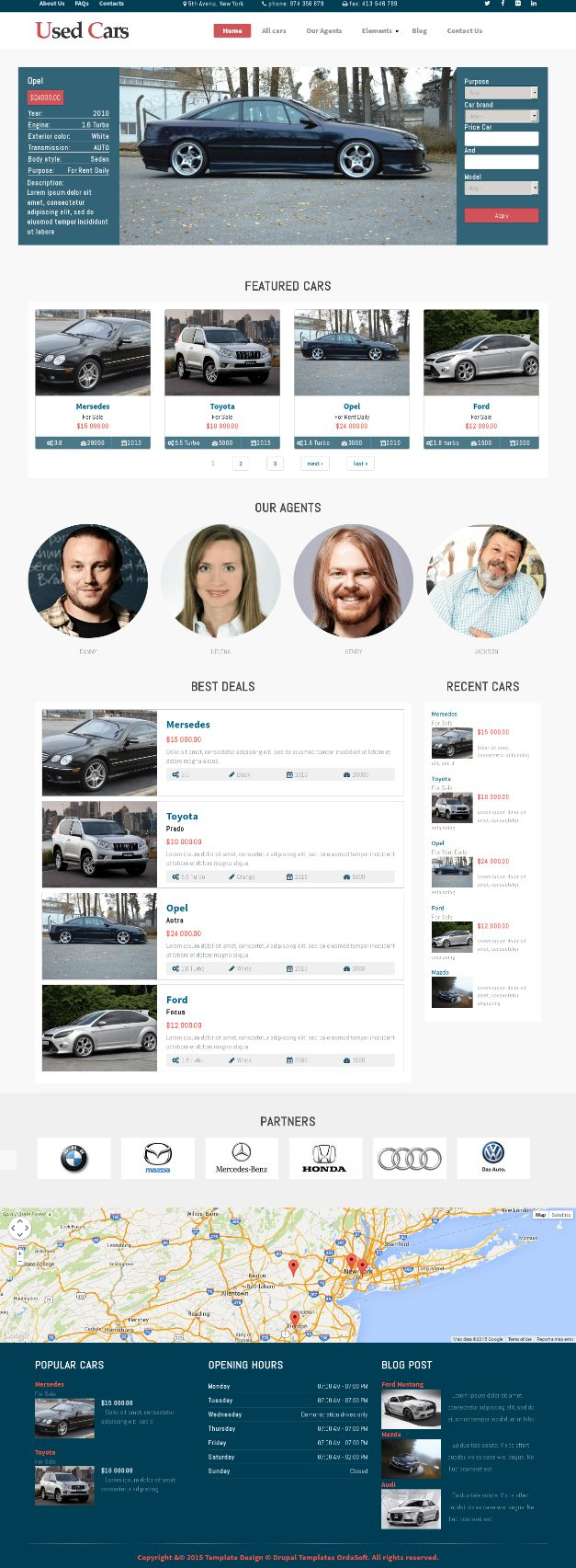 Used cars drupal theme is perfect for auto dealers car classified sites car dealer websites and car rental