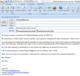 Email Cover Letter Format
