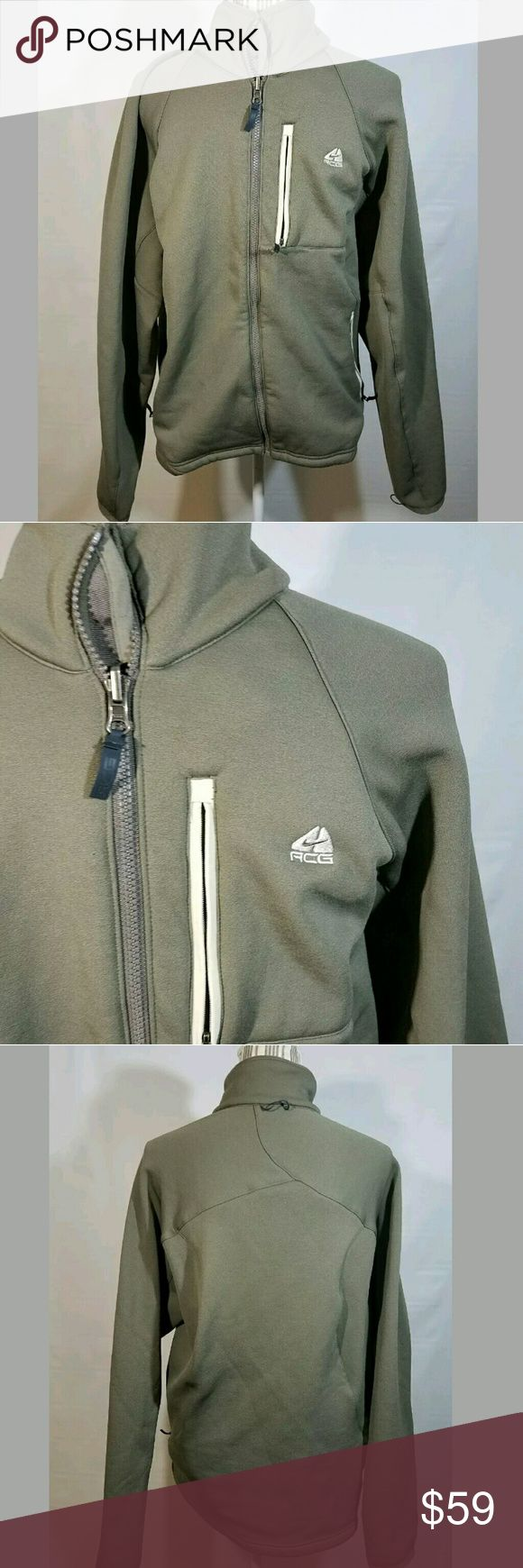 Nike ACG Jacket Men's Medium Nikefit Therma Full Nike ACG Jacket Men's Medium Nikefit Therma Full Zip Olive-- Excellent used condition.   23 inches pit to pit.  27 inches long.   LB Nike ACG Jackets & Coats Performance Jackets