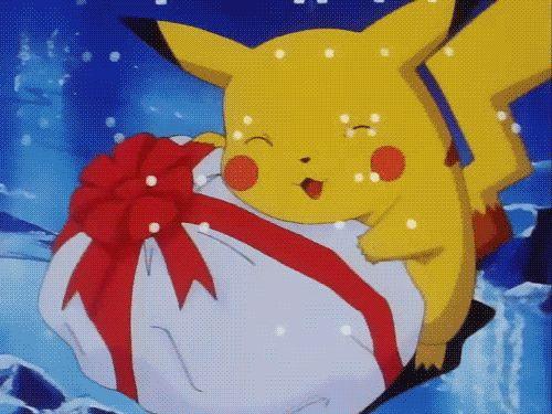 New trending GIF on Giphy. pokemon christmas pikachu present. Follow Me CooliPhone6Case on Twitter Facebook Google Instagram LinkedIn Blogger Tumblr Youtube