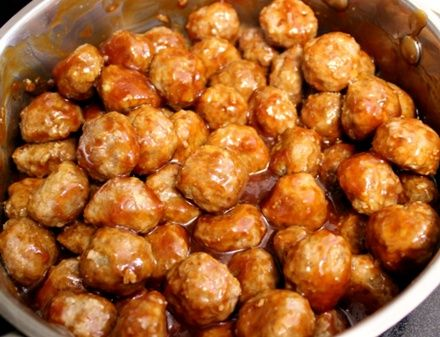 Honey Glazed Garlic Meatballs - My review (Feb. 2015) - was ok, pretty garlicky, think I'll reduce the garlic next time.  Sauce was perfect consistency to coat the meatballs.  I'd say this is about a 3 1/2 out of 5.  ~ Lisa Twinmomma