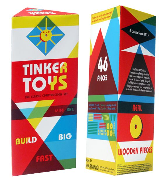 Tinker Toys by Kelly Abeln, via Behance  packaging re-deisgn