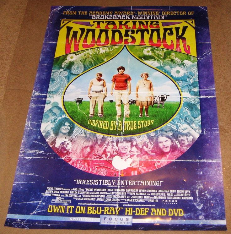 Taking Woodstock 2009 Movie Poster 27x40 Used