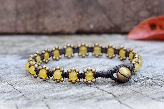 Elfin Lemon Brass Bracelet by brasslady on Etsy