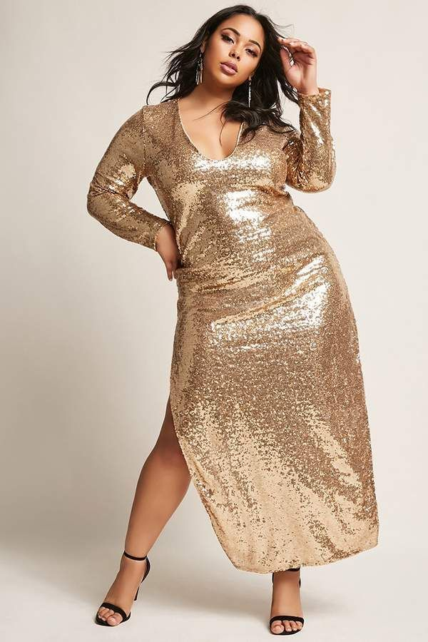 46e31a7b011 FOREVER 21+ Plus Size Sequin Maxi Dress