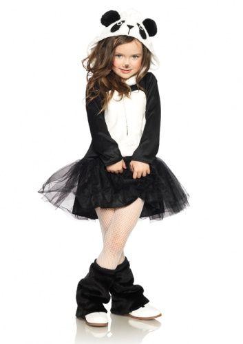 Panda kostuum voor meisjes