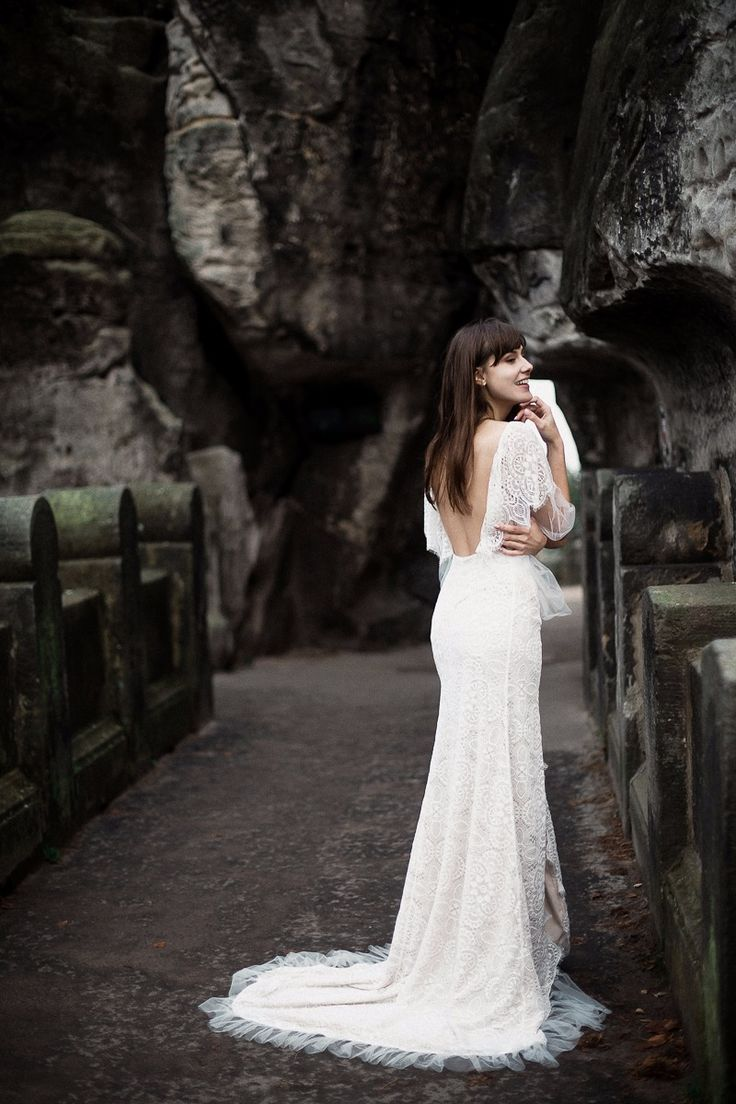 Lace is all what you need in romantic wedding gown