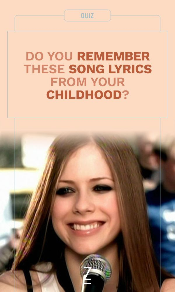 Take the quiz: Do you remember these song lyrics from when you were a kid?