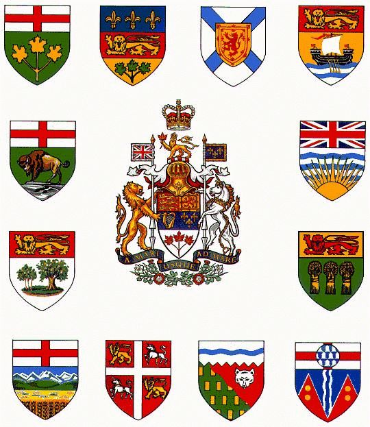coat of arms canada provinces - Google Search