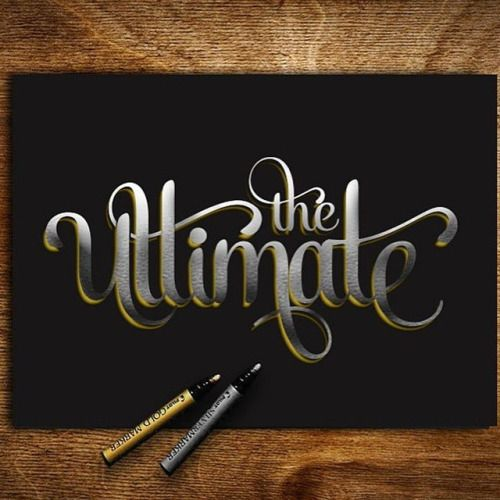 """Typeverything.com – """"The Ultimate"""" by @rigosreactions – via lovegoodtype"""
