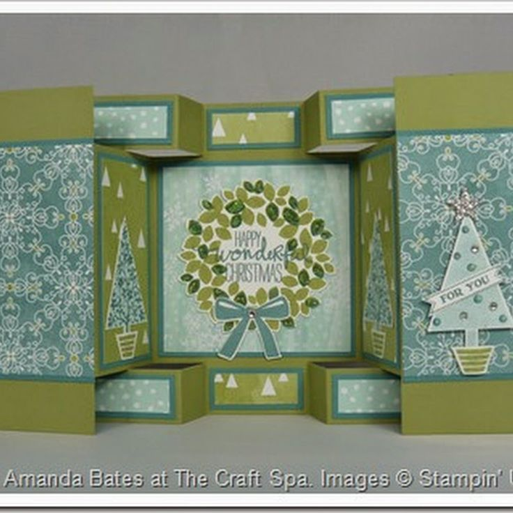 The Craft Spa - Stampin' Up! UK independent demonstrator : Metric Tutorial - Large Square Double Display Card