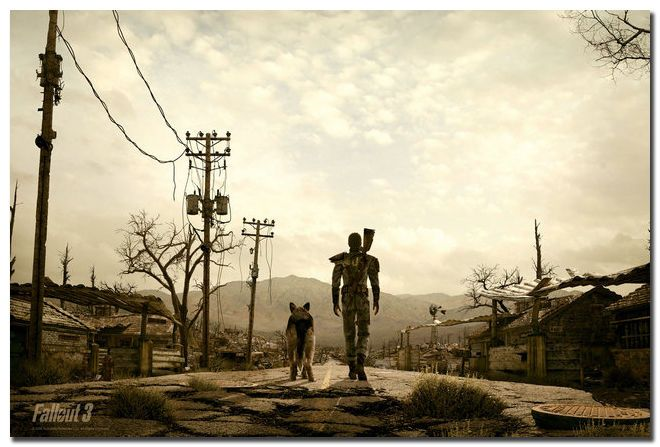 Fallout 3 Man And His Dog Art Silk Poster 24x36inch Wall Decor #ArtDeco