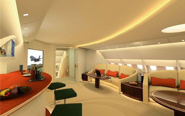 World 39 s largest private jet photo gallery airbus a380 for Dep design interieur