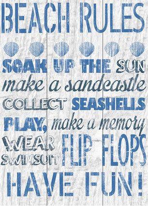 Beach Rules Canvas Giclee Print