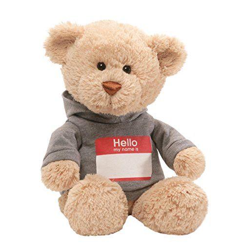 Gund Hello My Name Is T-Shirt Stuffed Teddy Bear