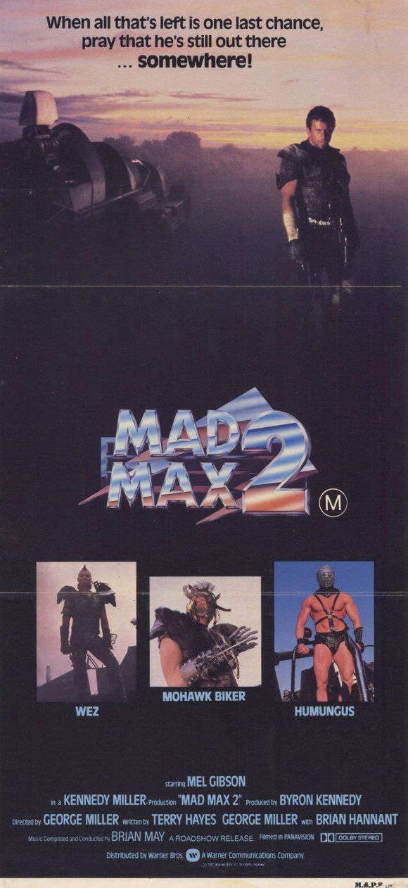 """CAST: Mel Gibson, Bruce Spence, Emil Minty, Vernon Wells, Virginia Hey, Max Phipps, Mike (Michael) Preston, William Zappa; DIRECTED BY: George Miller; Features: - 11"""" x 17"""" - Packaged with care - ship"""