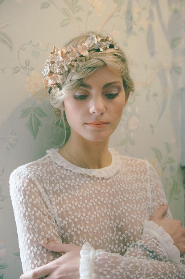 Novia romántica · Tocado Le Touquet · Fotografía Días de vino y rosas