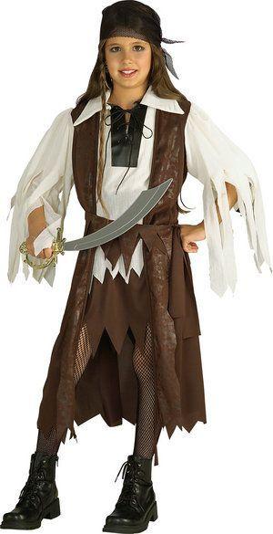 Lasten Naamiaisasu; Karibian Merirosvokuningatar  Karibian merirosvokuningatar tietää merten metkut ja merten kauhujen kepposet ja osaa tarvittaessa pistää joukot ojennukseen! Sisältää: - Paidan pitkällä liivillä - Vyön - Päähuivin