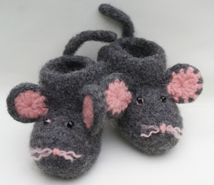 Free Crochet Baby Bootie Patterns | SALEFelted Mouse Crochet Baby ...
