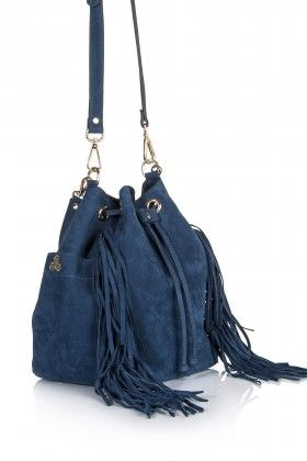 Hitt Bag Tumi Fringe Bucket Bag Mavi Çanta: Lidyana.com