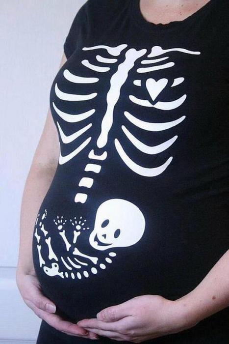 Baby Skelett Schwangerschafts Shirt
