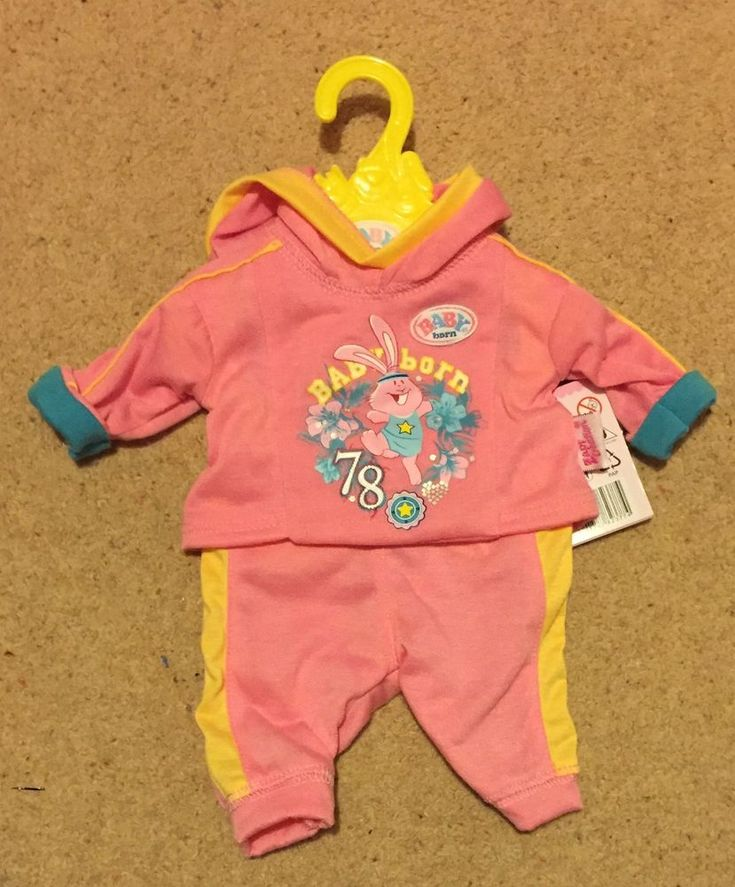 Zapf Creation Baby Born Doll Sporty Collection Tracksuit Pink Clothes | Dolls & Bears, Dolls, Clothing & Accessories, Baby Dolls & Accessories | eBay!
