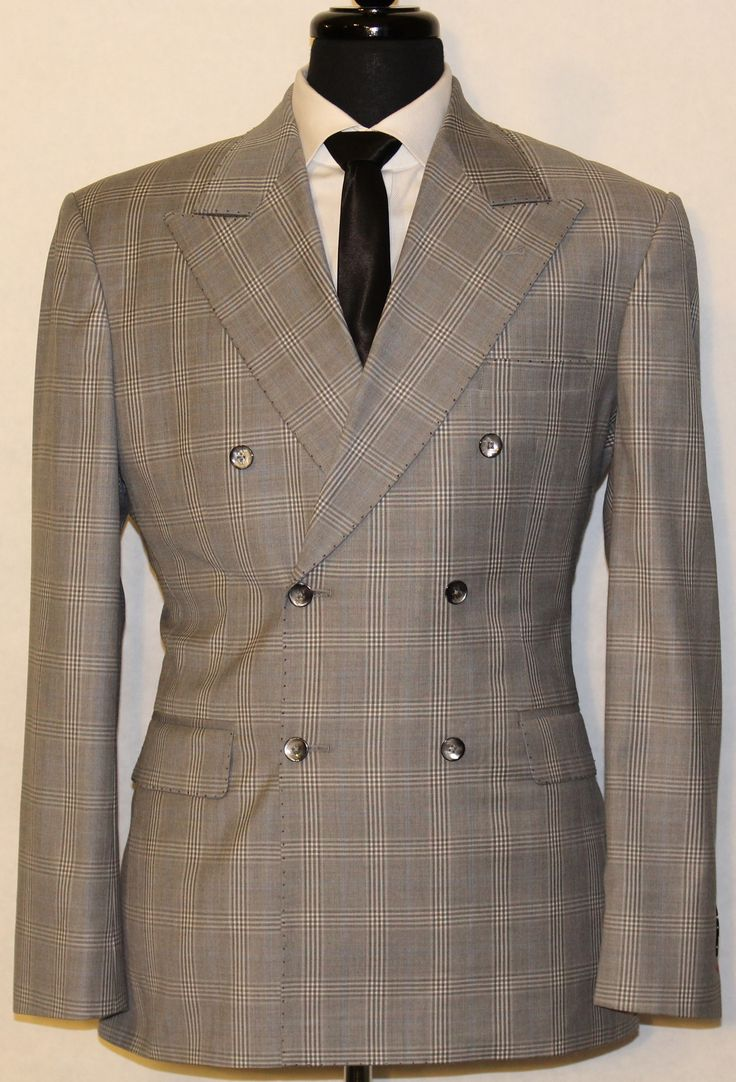 Super 140's Double Breasted Plaid Suit
