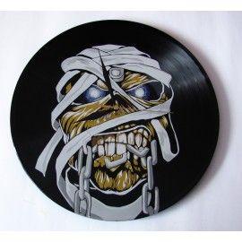 Iron Maiden - zegar z płyty winylowej / Iron Maiden vinyl record clock [Vantidus Vinyl Art] -> Zitolo.com