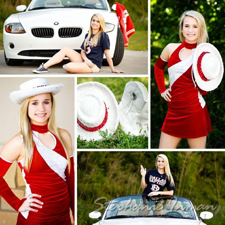 Stephanie Inman Photography : The Woodlands, Tx    Tomball High School ~ Senior ~  Drill Team, posing, BMW, Dallas Baptist,  photographer