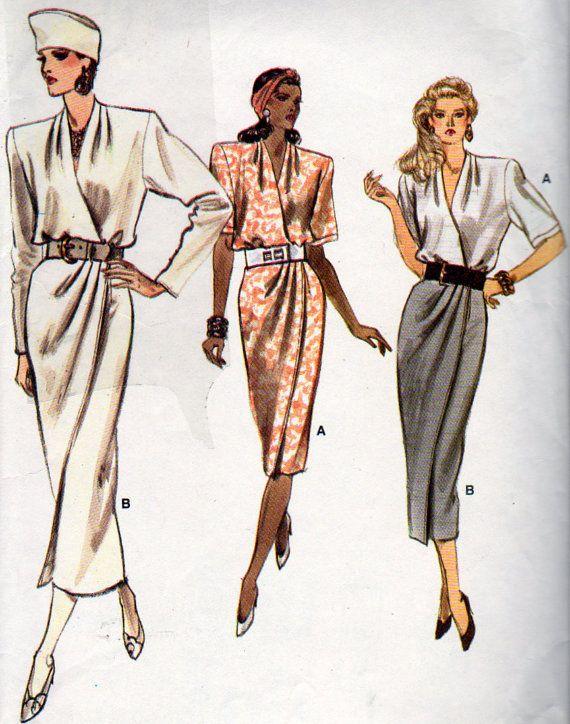 Vogue 9963 falta abrigo Top y falda floja por OnceUponAnHeirloom