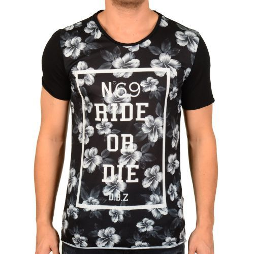 D & A Lifestyle Ride Or Die Oversize T-Shirt black