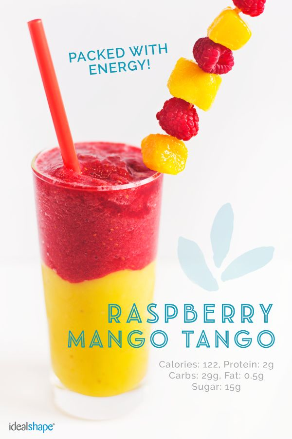 It looks too pretty to eat! (almost ;)) Recipe: Mango layer: 1/2 frozen banana 1/2 cup frozen mangos 1/4 cup water  Raspberry layer: 1/2 cup frozen raspberries 1/2 cup water 1 packet Raspberry Citrus IdealBoost Blend together, add the mango layer first, then the raspberry layer and ENJOY! :)