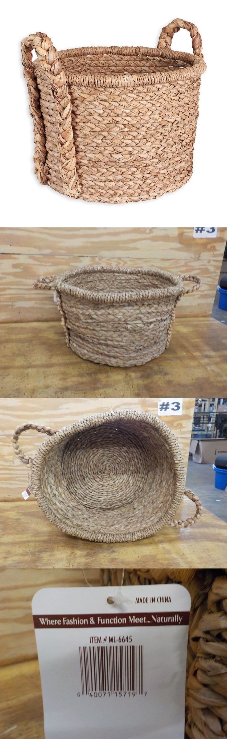Baskets 125072: Household Essentials Large Wicker Floor Storage Basket With Braided Handle -> BUY IT NOW ONLY: $65.99 on eBay!