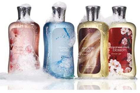 Bath and Body Works Essential Collection: Cherries Blossoms, Bath And Body Works, Travel Items, Bath Body Works, Bath Bodyworks, Work Shower, Shower Gel, Popular Pin, Bath Products