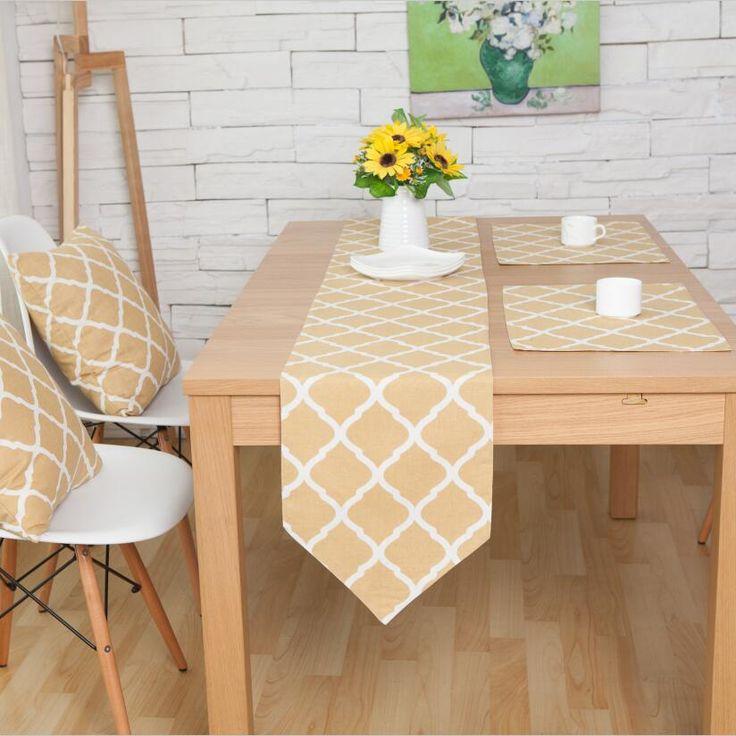 マルチサイズ北欧中国テーブルランナーテーブルクロスコーヒーテーブルランナーリネンコットン食器マット枕テーブルパッド(China (Mainland))
