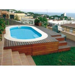 Coque piscine ovale mini pente