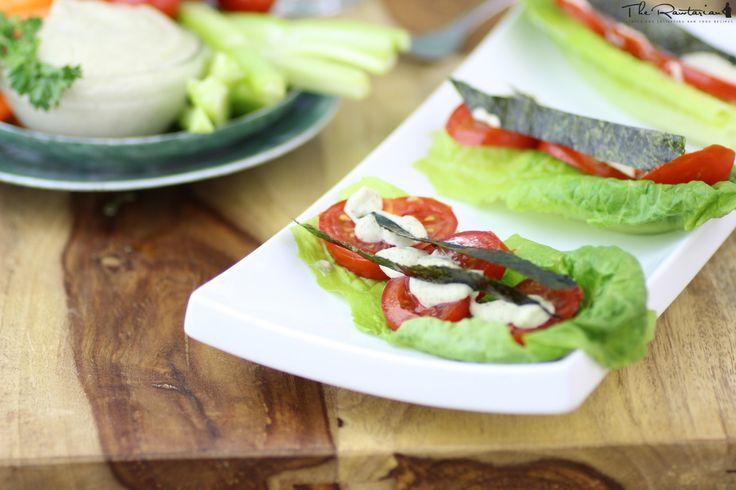 The Rawtarian's: Raw bacon lettuce tomato sandwich