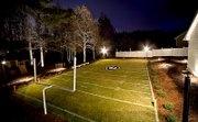 Backyard as a replica of UGA football field.  Awesome!