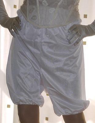 Vintage style Mylesta white silky directoire knicker long leg pantie~bloomers 22