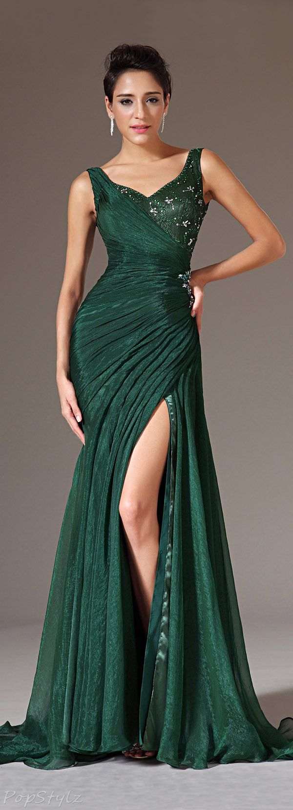 17 Best ideas about Chiffon Evening Dresses on Pinterest | Beaded ...