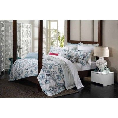 Egrets Teal Quilt Cover Set By Florence Broadhurst