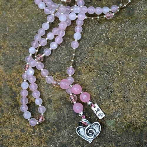 Our Love Lariat has been designed with Brazil Rose Quartz Gemstones and Faceted Rose Quartz Gemstones. This design is the perfect companion to our LOVE bracelet and they look wonderful worn together. Created to help you open your heart. Rose Quartz is the stone of unconditional Love and infinite Peace. It is the most important crystal for the heart and the …