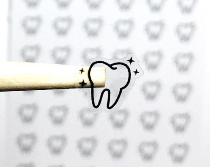 56 pegatinas de dentista dentista planificador pegatinas