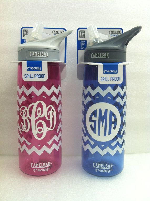 Camelbak monogrammed chevron water bottle - @Mary Powers Powers Powers Powers Powers Powers Powers Beth Wadford you should totally do this!!