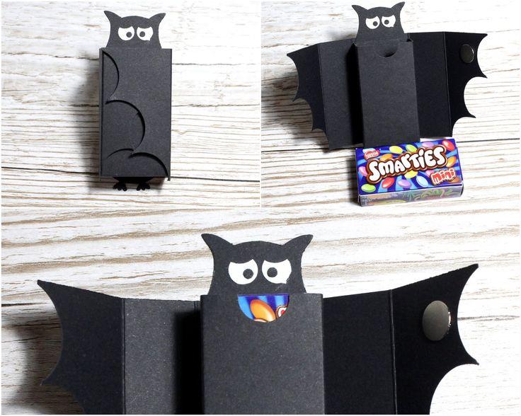 Anleitung Smarties- Verpackung als Fledermaus für Halloween (gemacht mit Produkten von Stampin' Up! )
