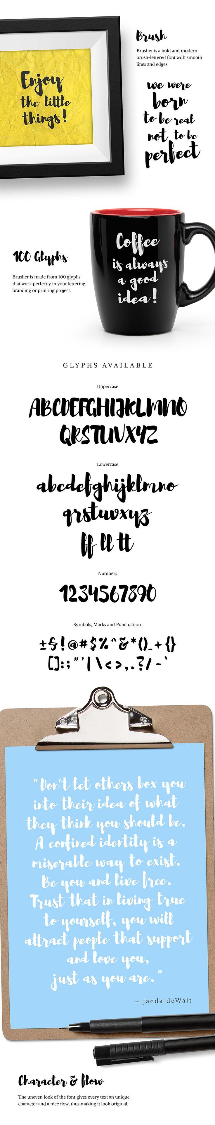 Шрифт Brusher