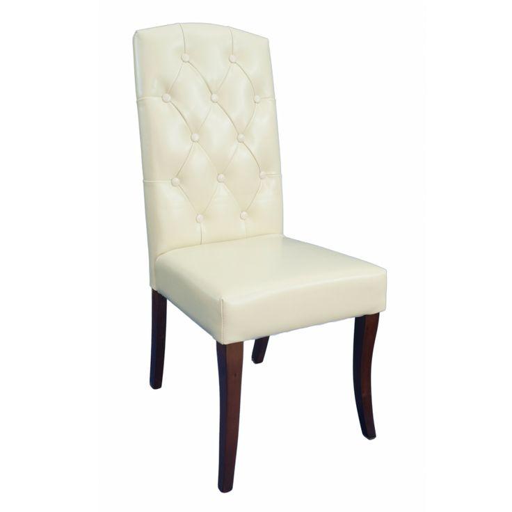 silla de cuero con capitoné