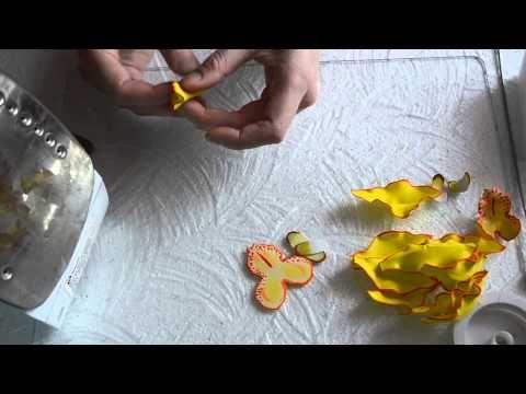 Обработка лепестков орхидеи - YouTube